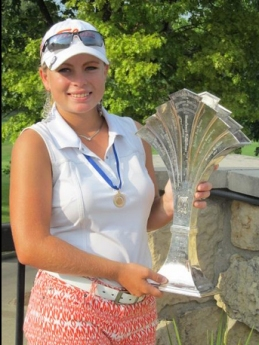 Annika Bovender will play college golf at Furman and earned AA All-State honors in the boys championship played in Charleston.