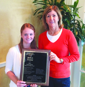 Jaelyn Tindal of Rock Hill won the Beth Daniel SCJGA Girl's Player of the Year in 2014.