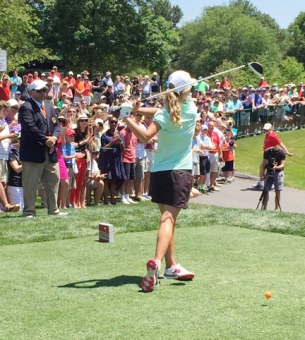 Vaughan off the tee at Quail Hollow.