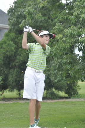Defending AAAA champion Trent Phillips of Boiling Springs shares the first round lead at the AAAA state championship. (file photo from The Golf Club Newspaper)