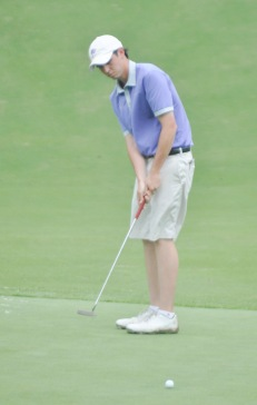 Western Carolina's T.J. Poston is the individual leader at the Chapel Hill Regional.