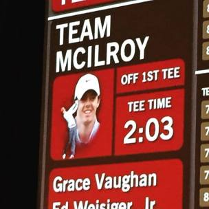 Vaughan is officially on Team Mcllroy in the Wells Fargo Pro-Am.