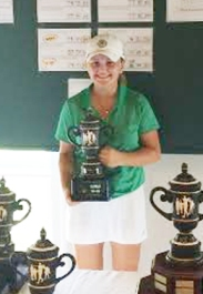Ashley Czarnecki shot a final round 2-under par 70 to win the overall girls title at Smithfields.