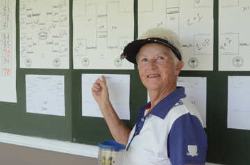Nancy Dodge of Gilbert won the State Division title in a 19 hole match with Betty Jean Armbruster.