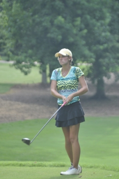 Victoria Huskey is three shots back after the first round of the Jimmy Self in Greenwood.