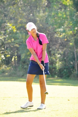 Natalie Srinivasan has the first round lead at the Jimmy Self in Greenwood.