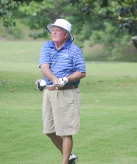 Doug Tooke has a one shot lead in the Senior Division at the Festival of Flowers Tournament