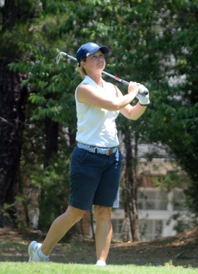 Dawn Woodard's streak of five straight Match Play titles ended with a 4&3 victory by Venable.