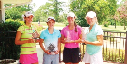 Top finishers at the WSCGA Girls Championship  left to right) is Victoria Huskey, Baylee Evans, Gracyn Burgess and Ashley Czarnecki.