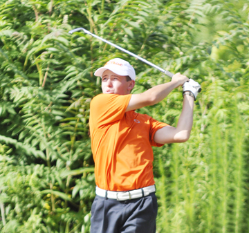 Jonathan Costello is one of four golfers tied for the lead at the Spartanburg County Amateur.