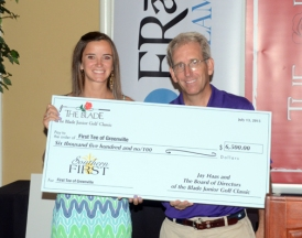The Greenville First Tee received $6,500 from The Blade Junior Classic.