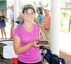 Victoria Hall won the girls title at the Coca-Cola Spartanburg County Junior Amateur.
