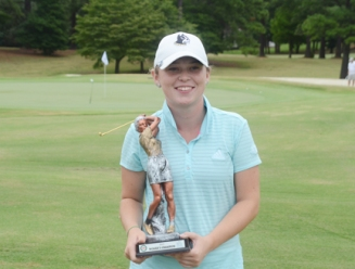 Page Morehead won the Women's County championship by 3 shots.