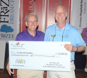 The South Carolina Junior Golf Foundation received $10,000 from The Blade Junior Classic.