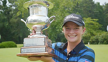 Kathleen Sumner of Charleston won the Twin-State Girls Junior championship at The Chapel Hill Country Club. (photo from CGA)