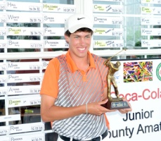 Matt Teaster won the Coca-Cola Spartanburgo County Junior Am at Woodfin Ridge.