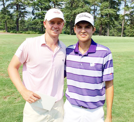 Carson Young, (right) won the US Amateur qualifying tournament at Columbia Country Club. Josh Lorenzetti (left) of Blythewood finished second.