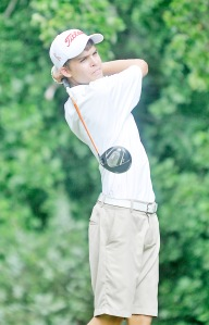 Carson Young from Pendleton has the first round lead at the US Open Qualifying tournament at the Columbia Country Club. (file photo)