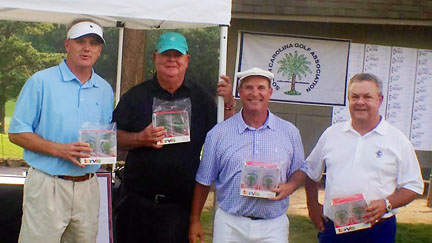 The team of Lee Palms, Gus Sylvan, Kevin King and Bert Atkinson won the Champions Shoot-out at Chanticleer.
