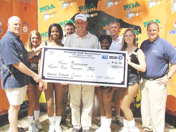 Biershenk won a handful of tournaments on the NGA Hooters Tour.