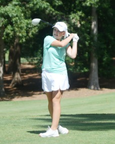 Mauldin's Ashley Czarnecki is in second place after round one of the SC AAAA girls championship.