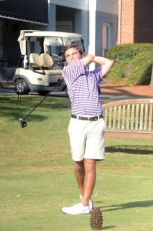 Wehman Hopke of Furman is tied with Wofford's Jeremy Grab for fourth.