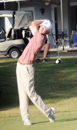 Keenan Huskey is tied for second at the Camden Collegiate.