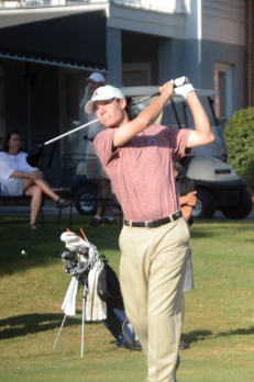 Will Miles is tied for second at the Camden Collegiate.