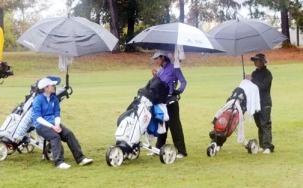 The final round of the AAAA tournament was played in the rain.