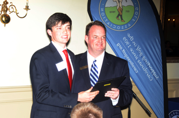 Nick Willis of Cowpens was presented the David Parrott Award for his sportsmanship, ability and academic excellence.