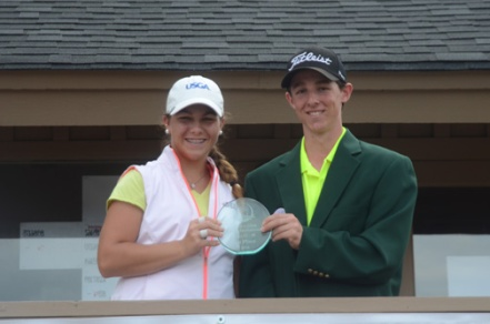 Jalen Castle and Jake Miller won the overall girls and boy title at the Cobb's Glen Junior Invitational.