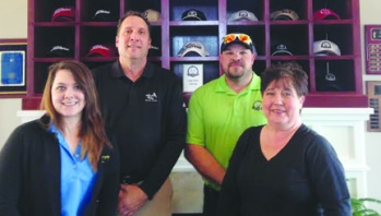 The Cleghorn Plantation team includesMarissa Adkins, Customer Service Manager, Dave Long PGA Professional /General Manager, Trevor Jolley, Superintendent and Rita Whittemore, Food & Beverage Manager..