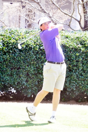 Preston Cole of Furman led the first round at the Palmetto Golf Club.