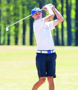 Griffin Brown finished third in the conference championship tournament and was named the Player of the Year.