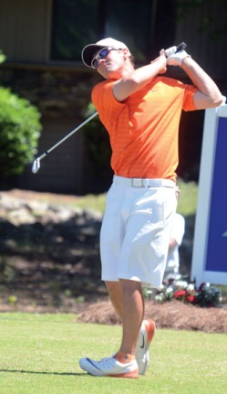 Miller Capps had the best round of the tournament for Clemson. He shot a 2-under par 70 in the final round.