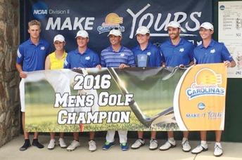 The Limestone men's team won the Conference Carolinas championship by 27 shots.