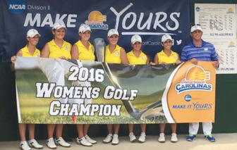 Limestone won the women's Conference Carolinas championship at Bryan Park near Greensboro.