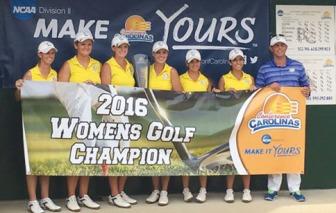 Limestone won the women's Conference Carolinas championship at Bryan Park near Greensboro.