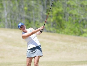 Taylor McInnis finished as the runner-up and helped the Limestone women's team win the conference championshhip.
