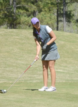 Valentina Romero is two shots off the lead after the first round of the SoCon Championship.