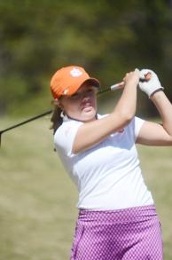 Freshman Lauren Stephenson was the top Clemson golfer.