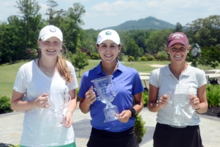 The top-three at the first Green Valley Girls Classic were Carly Burkhardt (center) champion, Victoria Huskey (right) second place and Anna Morgan (left) finished third.