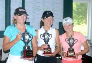 The girls 15-18 top golfers were (l-r) Kerington Lamb, Emma Reid, Ashlee Richardson.