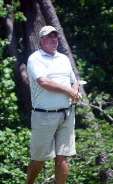 Roy Hunter plays the final hole at Chanticleer.