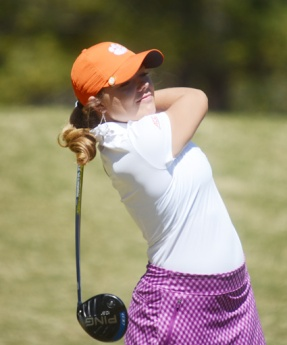 Lauren Stephenson was one of two freshmen at Clemson to be medalists in tournament play.