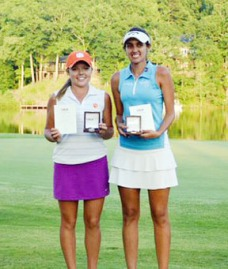 Stephenson won a USGA qualifying tournament for one of two places available in the US Women's Open.