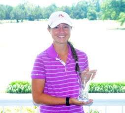 Gracyn Burgess of Lexington had the best round of the tournament shooting a 4-under par 68 to finish second.