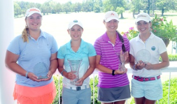 The top four golfers made the SC - Georgia Team match squad. L-R, Anna Grace Brock, Baylee Evans, Gracyn Burgess and Jodee Tindal.