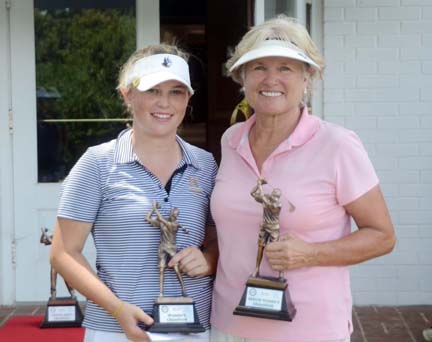 Morehead and Betty Jean Armbruster celebrate their Spartanburg County Championships.