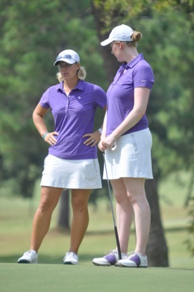 Kelley Hester (left) is the new Clemson Women's Golf Coach.